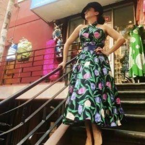 Vintage Victor Costa Floral Halter Dress